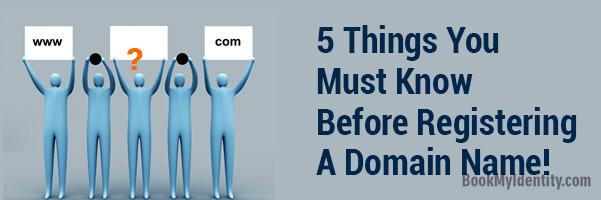 registering a domain name