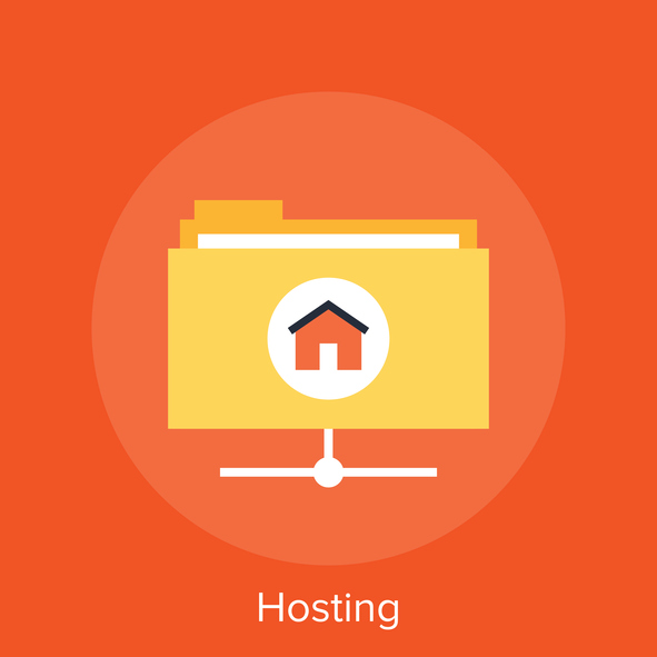Vector illustration of hosting flat design concept.